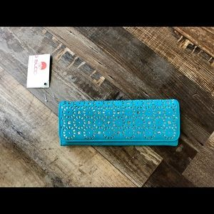 New with Tags Turquoise Big Buddha wallet